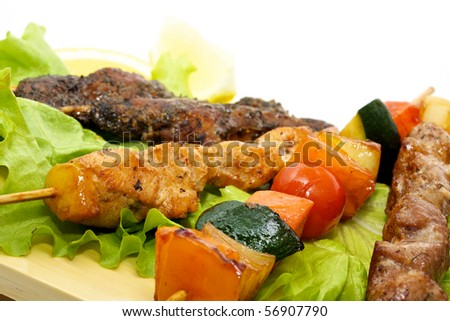 bbq - japan tradition food - stock photo
