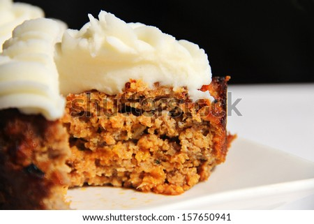 BBQ Meatloaf Cupcake inside - stock photo