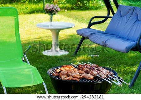 BBQ party - stock photo