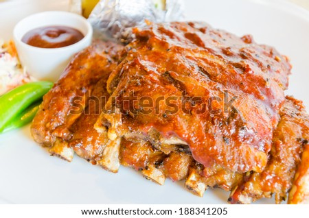 Bbq ribs steak