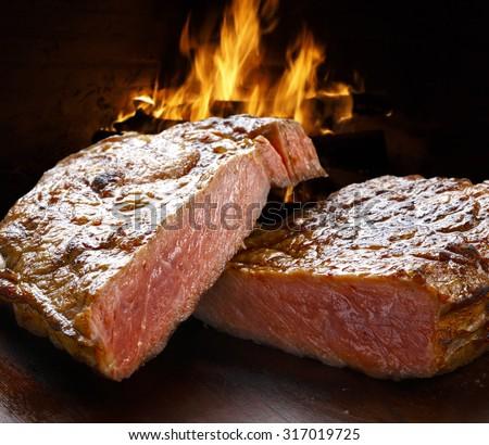 BBQ steak - stock photo