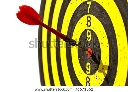Be accurate - stock photo