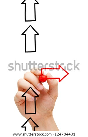 Be different and stay as far away from the mainstream as possible. - stock photo