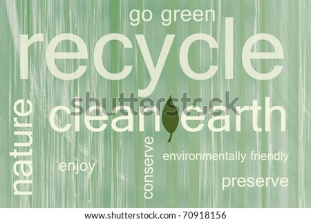 be environmentally friendly - stock photo