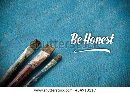 Be Honest. - stock photo