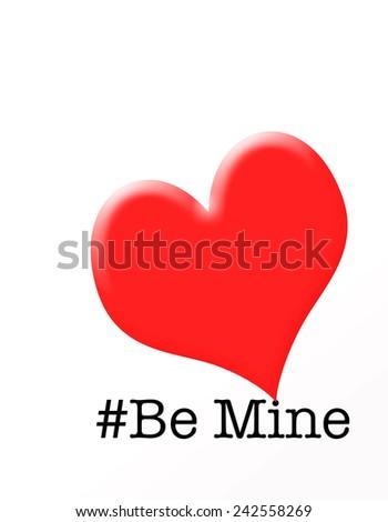 Be Mine Valentine - stock photo
