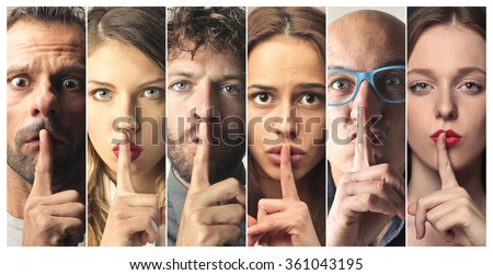 Be silent - stock photo