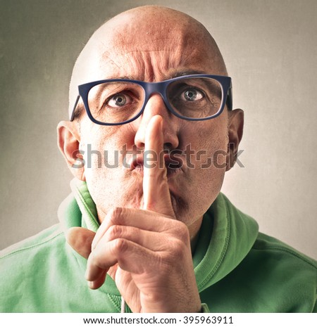 Be silent! - stock photo