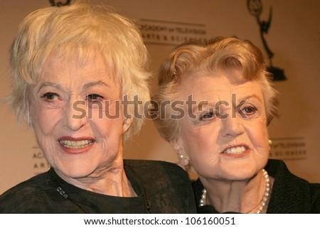 Bea Arthur and Angela Lansbury   at the Academy of Television Arts & Sciences Hall of Fame Ceremony. Beverly Hills Hotel, Beverly Hills, CA. 12-09-08 - stock photo
