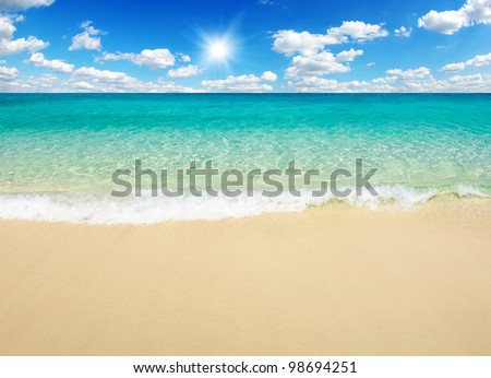 bea tropical sea - stock photo
