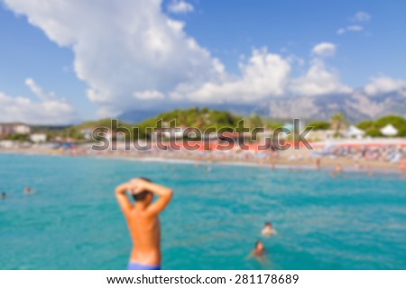 beach abstract blur background - stock photo
