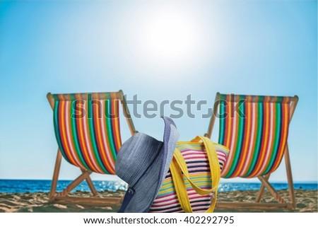 Beach accessories. - stock photo