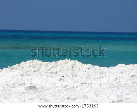 Beach along the Gulf of Mexico. - stock photo