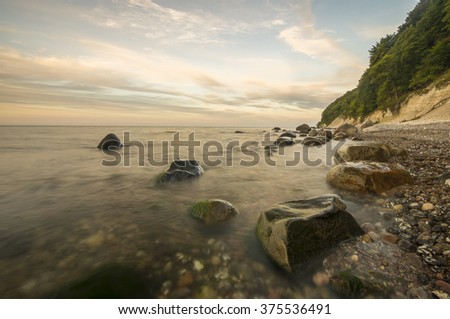 Beach and cliff, Germany, Baltic Sea