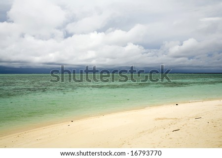 beach and the sea on tropical paradise