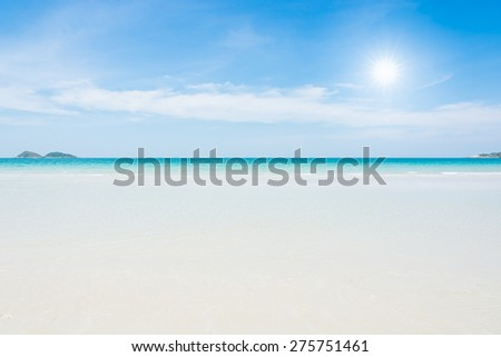 Beach and tropical sea at namsai of Thailand