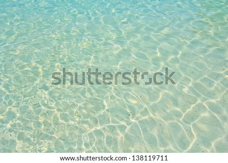 beach and tropical sea sand of Thailand sea - stock photo