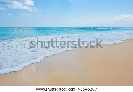 Beach and wave, Dreamland beach in Bali, Indonesia - stock photo
