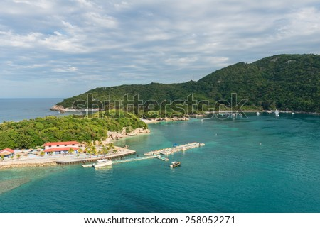 Beach at a tropical resort, Labadee, Haiti