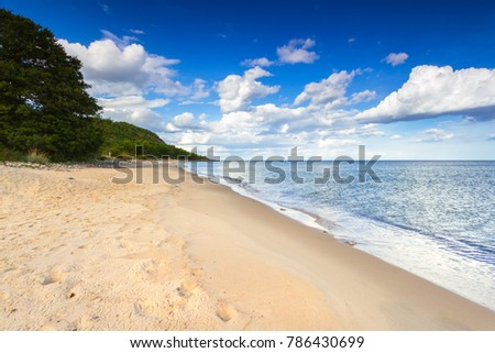 Beach at Baltic sea in summer time, Sweden