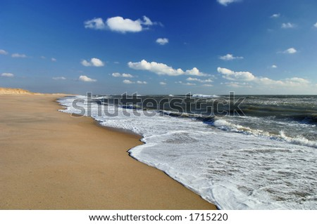 beach at cape hatteras, north carolina - stock photo