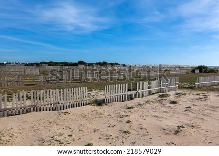 Beach at Chiclana de la Frontera, Province of Ca�¡diz in Spain