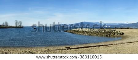 Beach at English Bay in Vancouver island, british columbia, Canada - stock photo