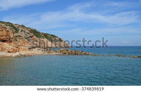 Beach at Gerani, Rethymno Prefecture in Crete - stock photo