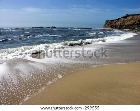 Beach at Half Moon Bay, california - stock photo
