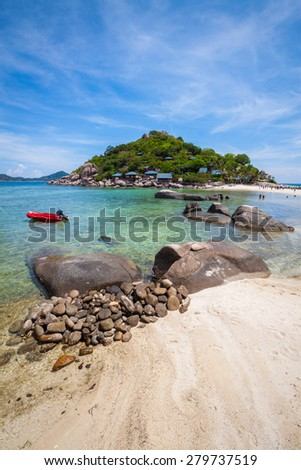 Beach at Koh Tao and Nang Yuan Island in Thailand