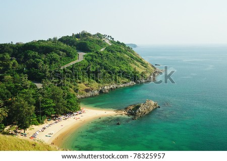 Beach at Laem Promthep Phuket thailand - stock photo