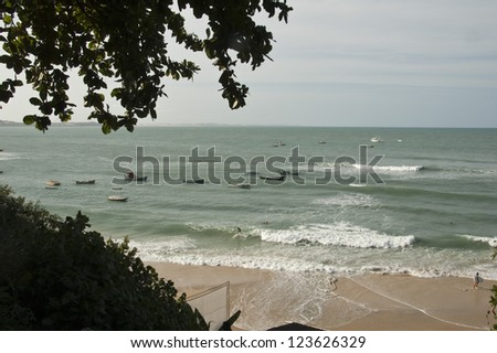 Beach at Praia de Pipa Brazil - stock photo