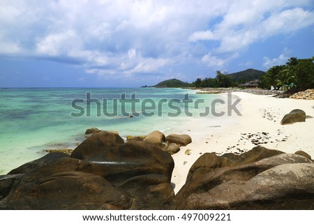Beach at Praslin, Anse Kerlan, Seychelles, Indian Ocean, Arica