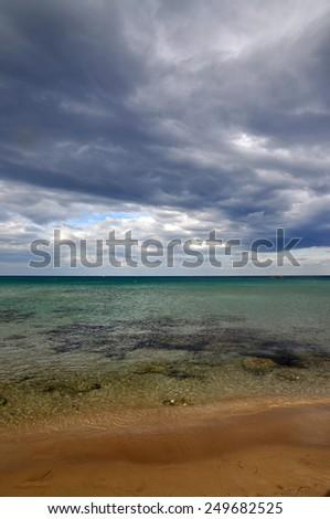 Beach at Stalida, Crete - stock photo