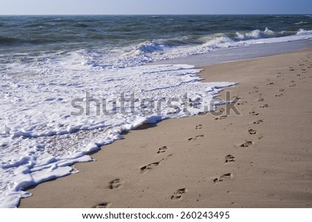 Beach at the North Sea in Rantum on the island of Sylt, Germany - stock photo