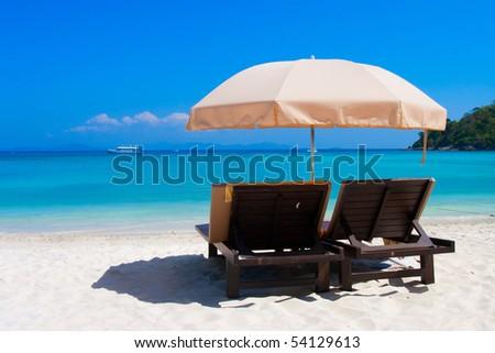 beach at the sea - stock photo