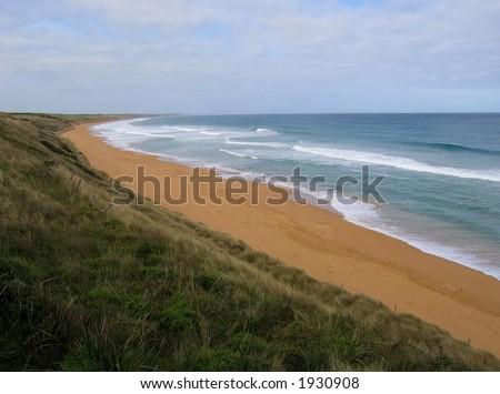 Beach at Warrnambool (Australia, Victoria) - stock photo