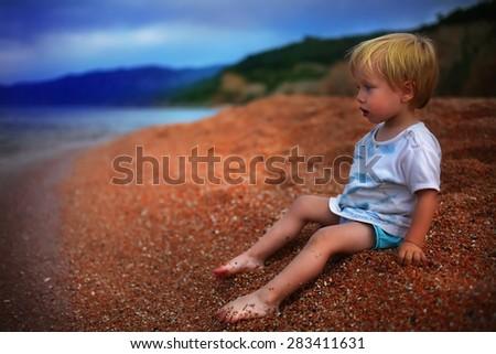 Beach Baby - stock photo