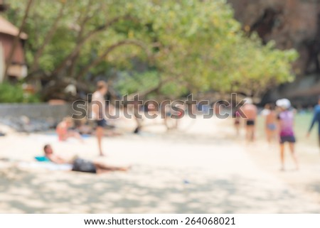 beach background from photo blurred lens - stock photo