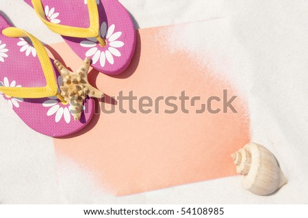 beach background with copyspace - stock photo
