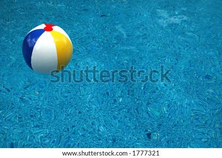 Pool Water With Beach Ball beach ball splash stock photo 619358030 - shutterstock
