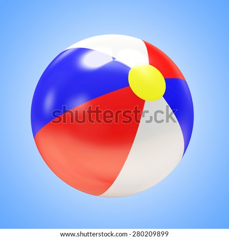 Beach Ball on blue background