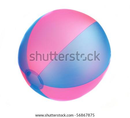 Beach Ball on white background - stock photo