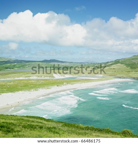 beach, Barleycove, County Cork, Ireland - stock photo