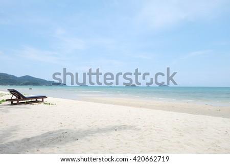 beach bed on the beach - stock photo