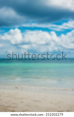 Beach blur background - stock photo
