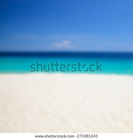 Beach blur background, blured filter effect. - stock photo