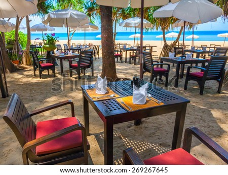 Beach cafe - stock photo