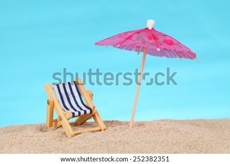 beach chair - stock photo