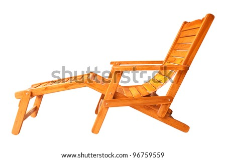 Beach chair. - stock photo